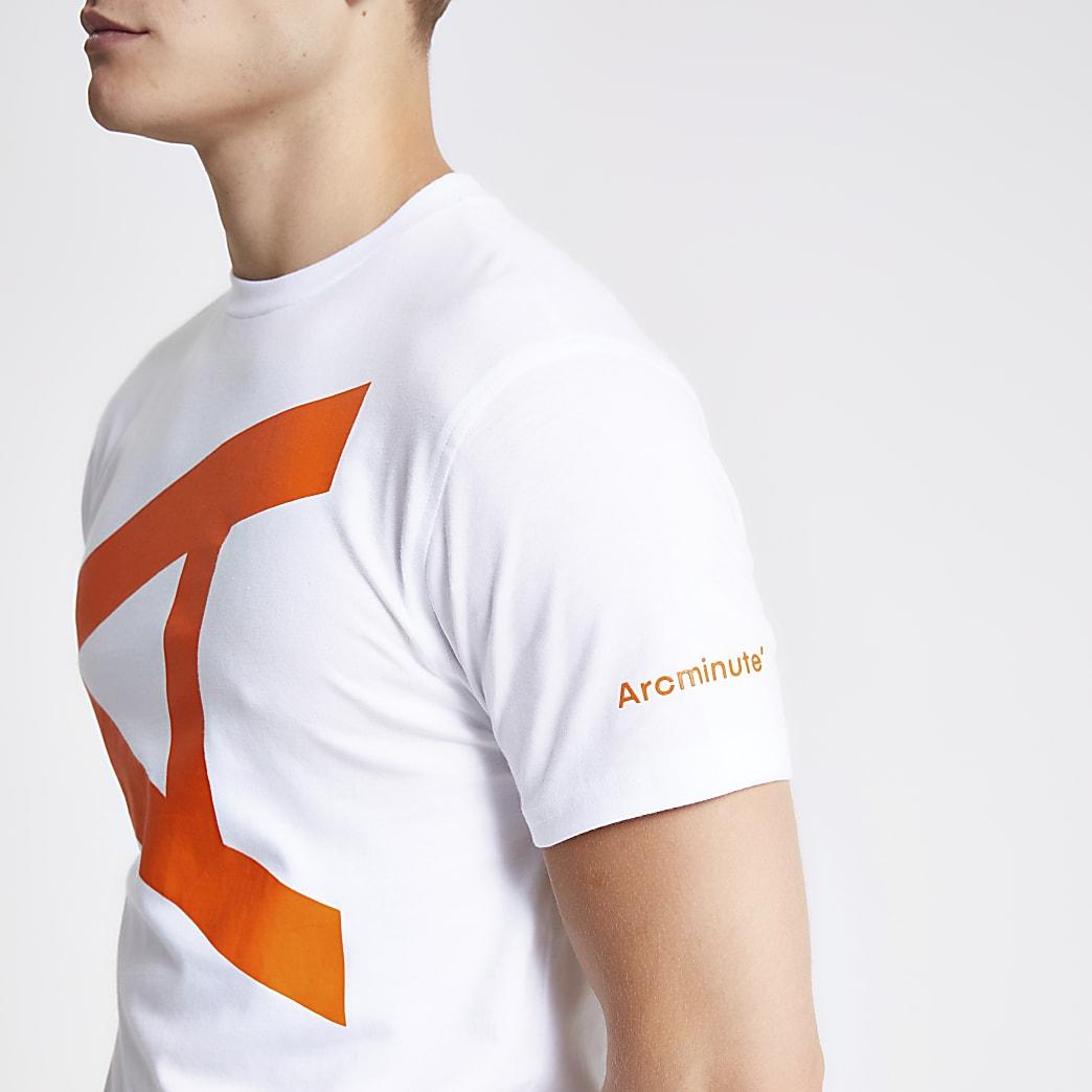 Arcminute – T-shirt à imprimé lettre blanc