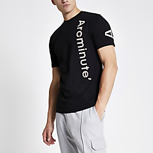 Arcminute – T-shirt noir à logo