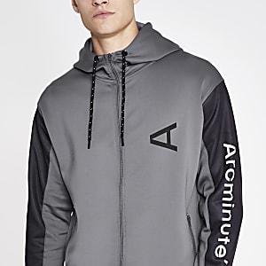 Arcminute grey zip hoodie