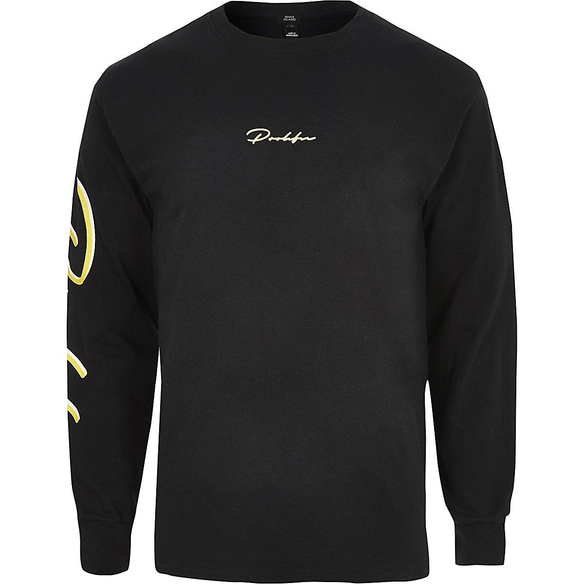 T-shirt « Prolific » noir à manches longues