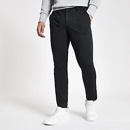 Dark blue skinny cargo trousers
