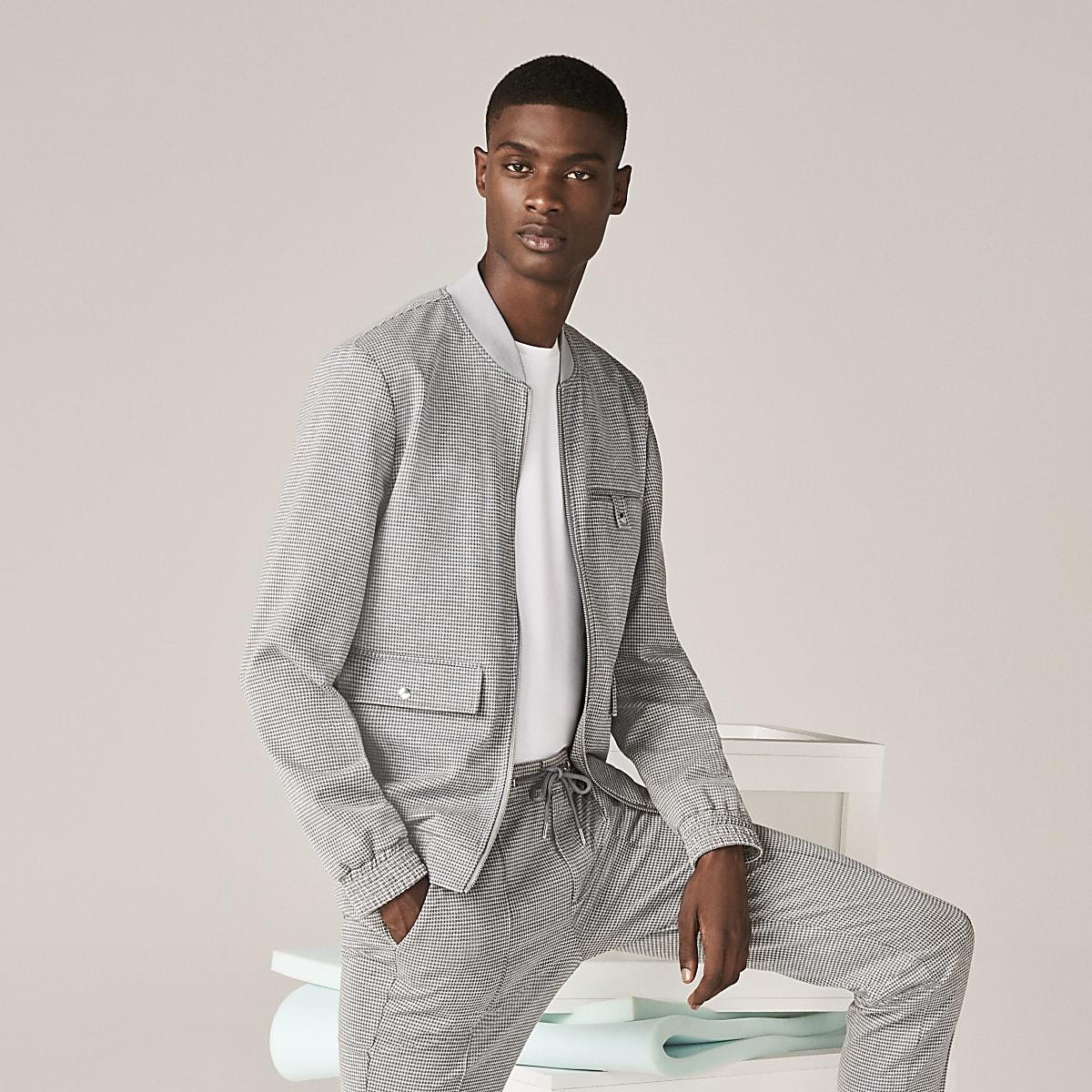 Grey skinny fit utility jacket
