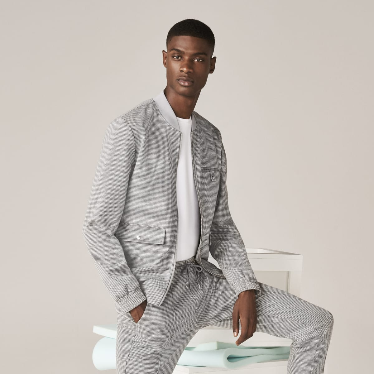 Grey skinny fit utility jacket