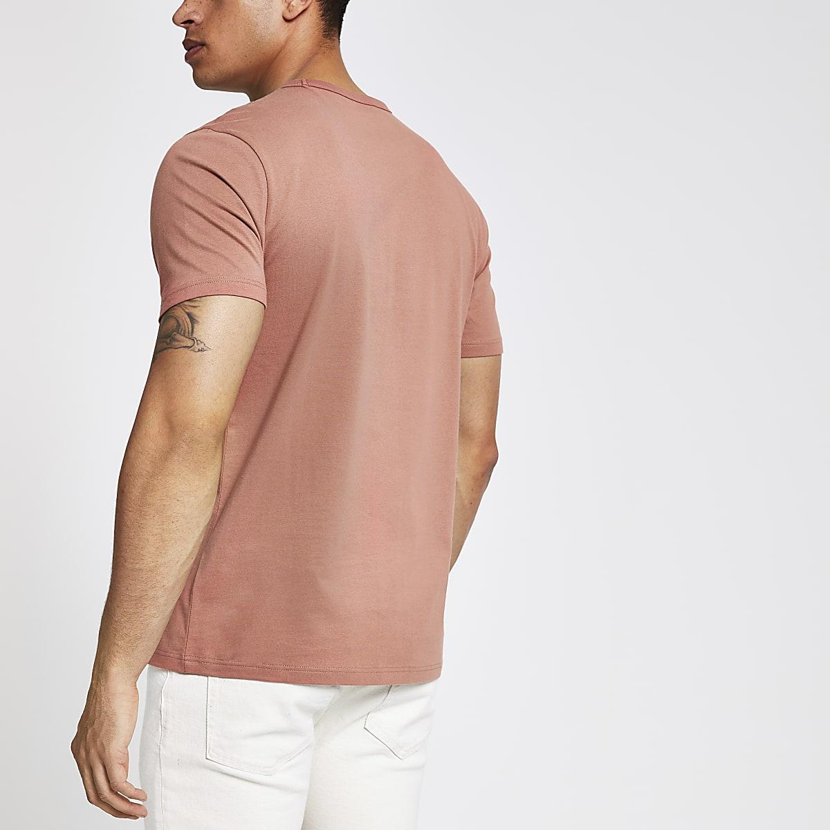 b58ac22aa676 Rust slim fit crew neck T-shirt - T-shirts - T-Shirts & Vests - men