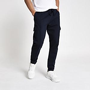 Pantalon de jogging slim bleu marine fonctionnel