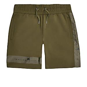 Khaki 'Maison Riviera' slim fit jersey shorts