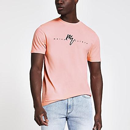 Coral Maison Riviera slim fit T-shirt