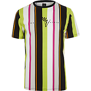 Neon green stripe slim fit T-shirt