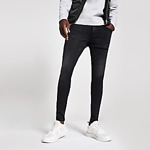Black Ollie spray on skinny washed jeans