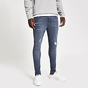 Ollie - Middenblauwe spray-on skinny jeans