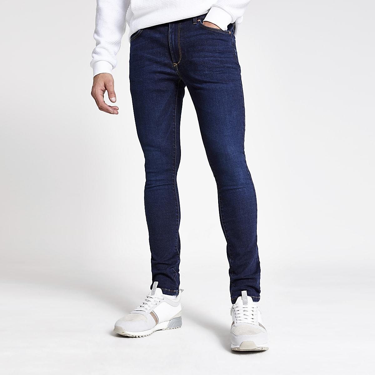 Danny - Donkerblauwe superskinny jeans