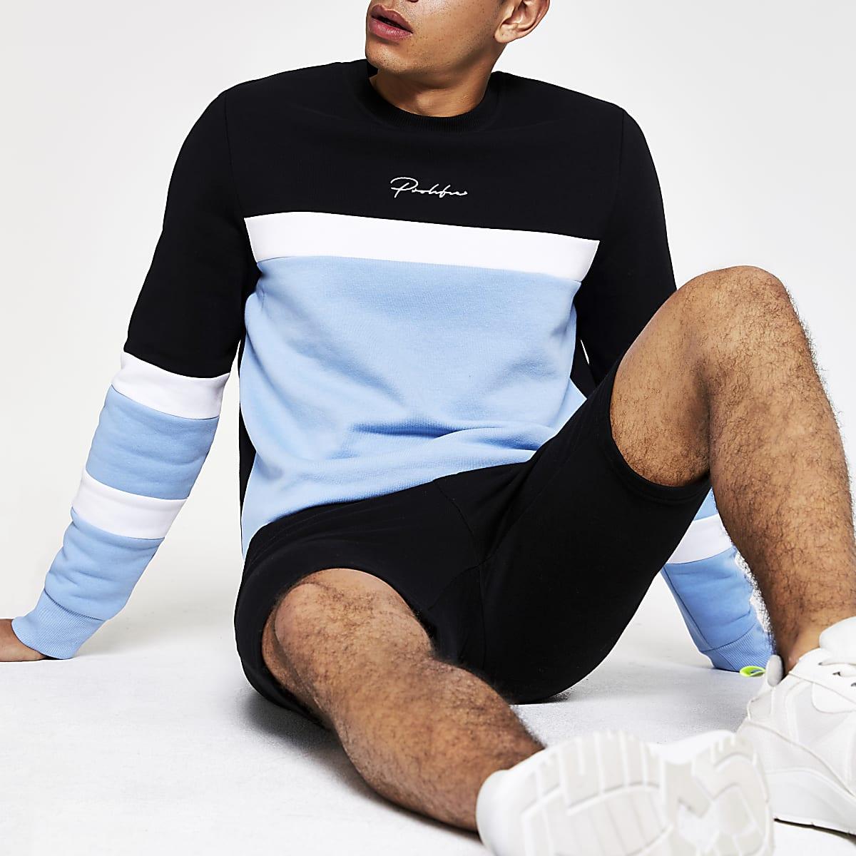 Blue block 'Prolific' slim fit sweatshirt