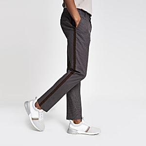 Brown skinny fit trousers