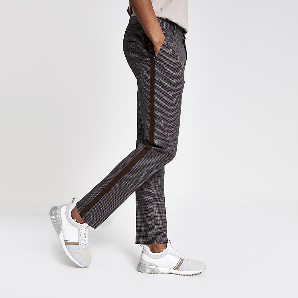 Brown skinny fit trousers