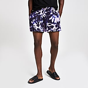 Slim Fit Shorts in Lila