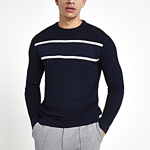 Marineblauer Slim Fit Pullover