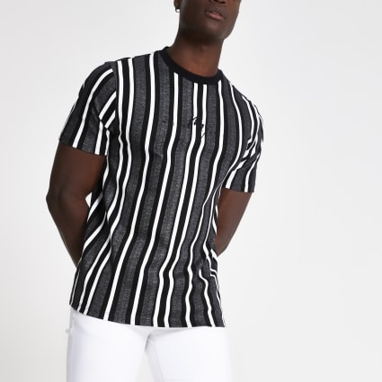 Grey stripe Maison Riviera T-shirt