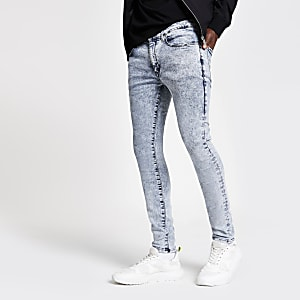 Danny - Lichtblauwe superskinny jeans