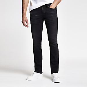 Black Clint bootcut stretch jeans