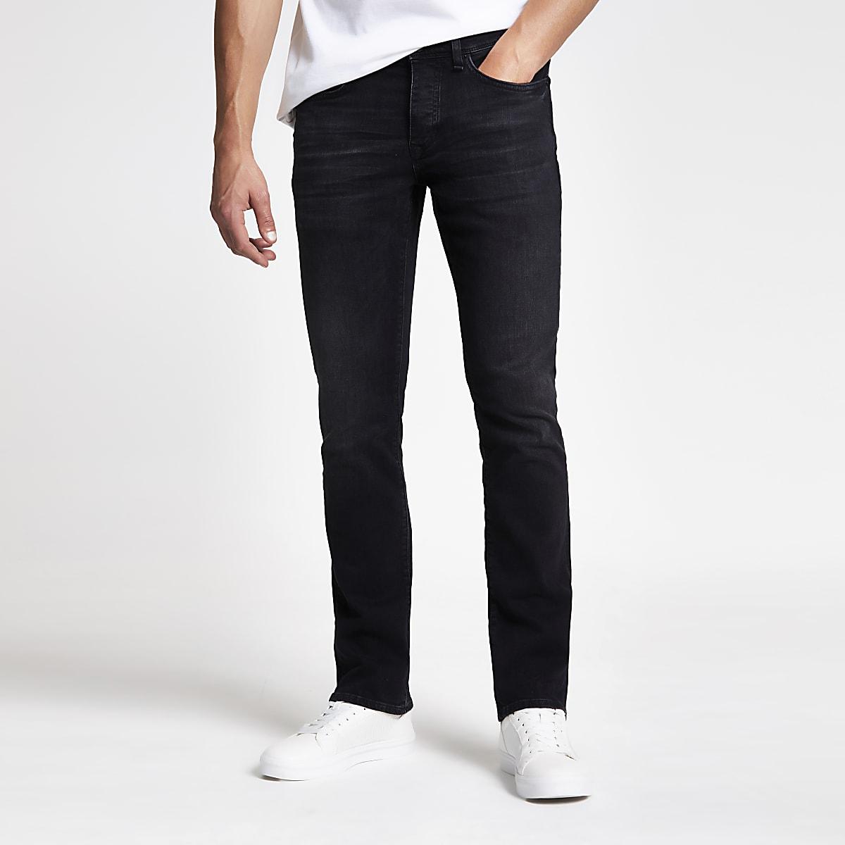 Black Clint bootcut stretch jeans