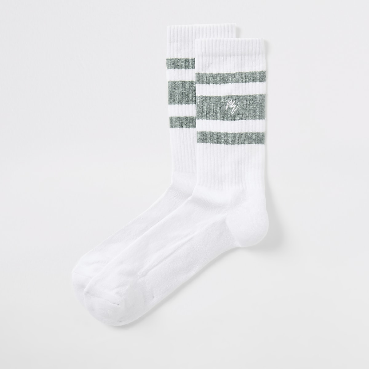 Green Maison Riviera stripe socks