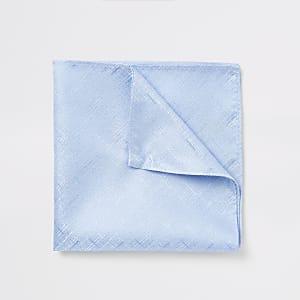 Blaues, strukturiertes Einstecktuch