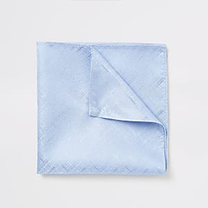 Blauwe zakdoek met textuur