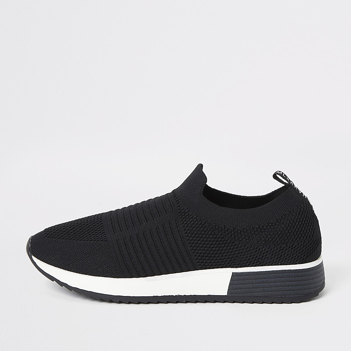 Black knit runner trainers