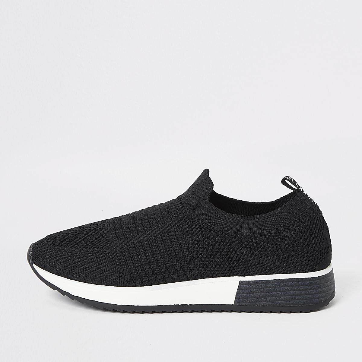 Zwarte gebreide sneakers