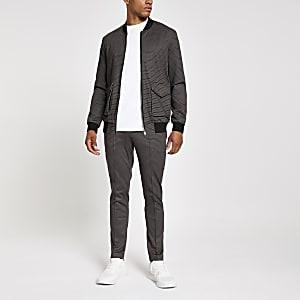 Brown skinny jogger trousers