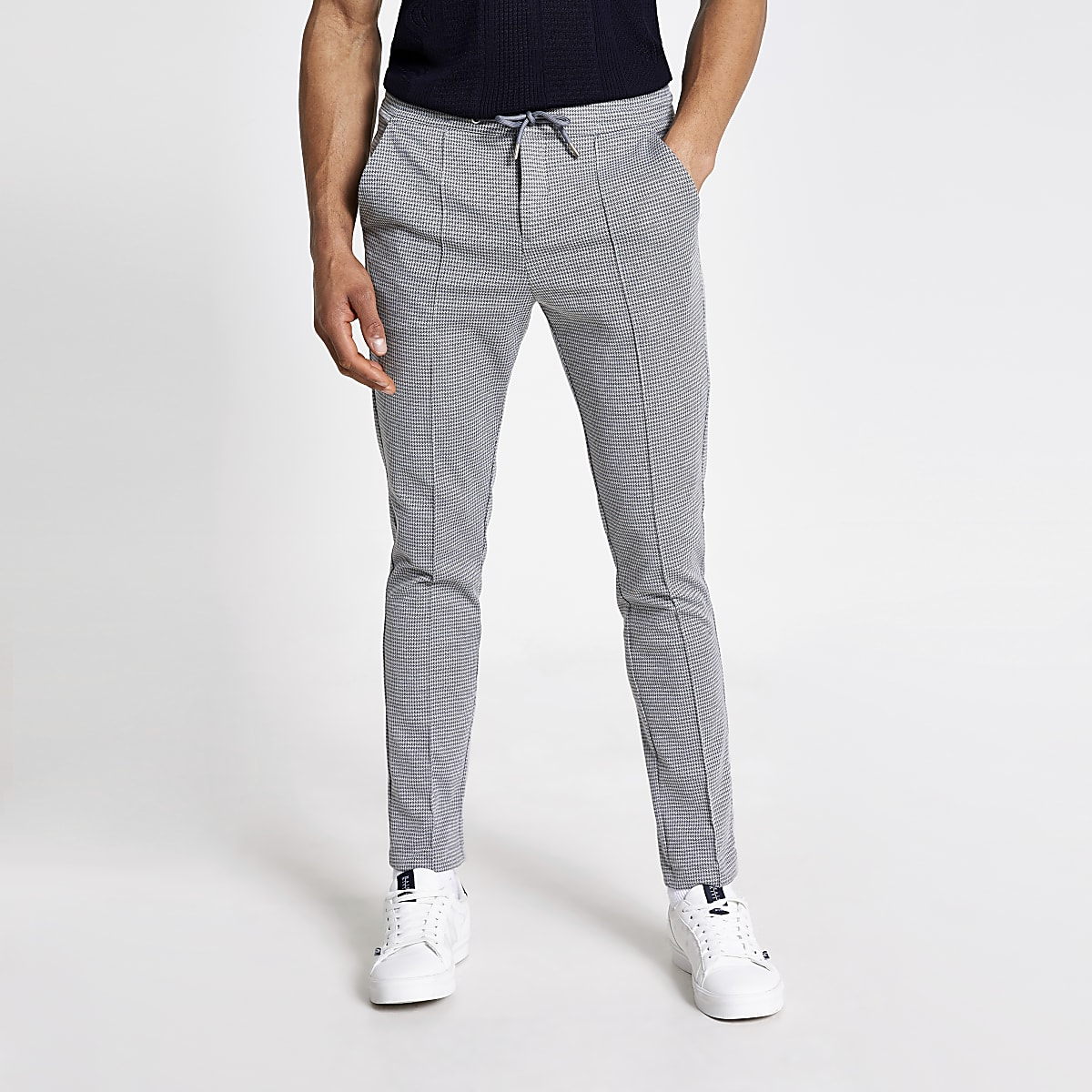 Graue, elegante Skinny-Jogginghose