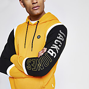 Jack and Jones yellow hoodie