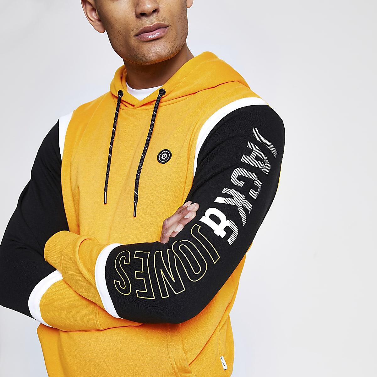 Jack and Jones yellow hoodie