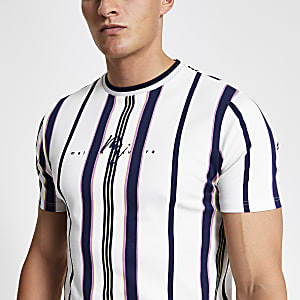 """Gestreiftes weißes T-Shirt """"Maison Riviera"""""""