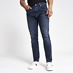 Levi's 512 - Blauwe smaltoelopende smalle jeans