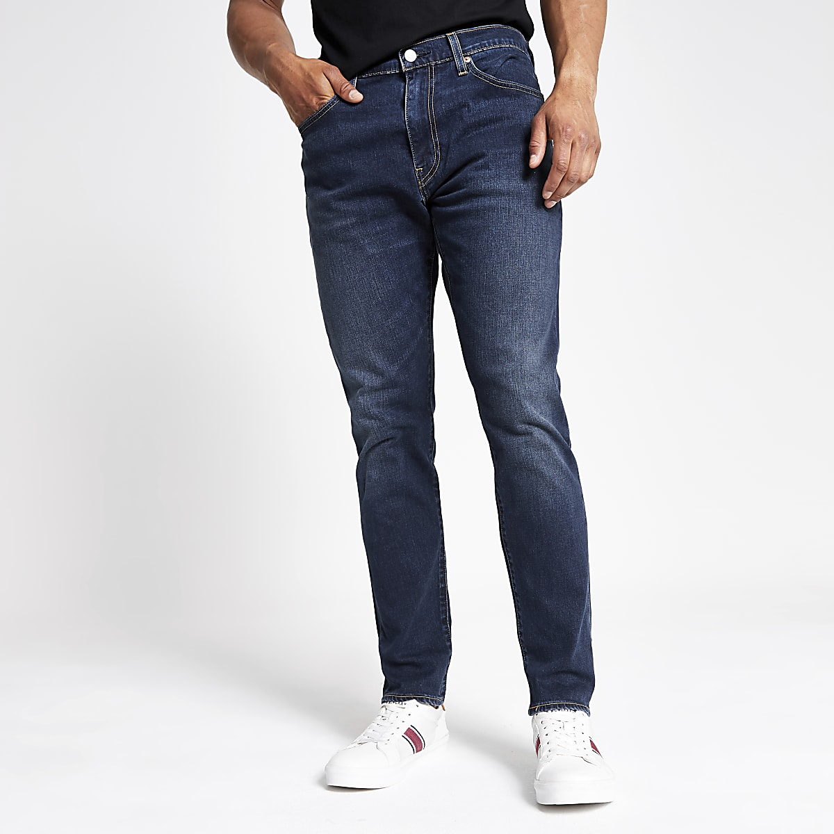 Levi's blue 512 tapered slim jeans