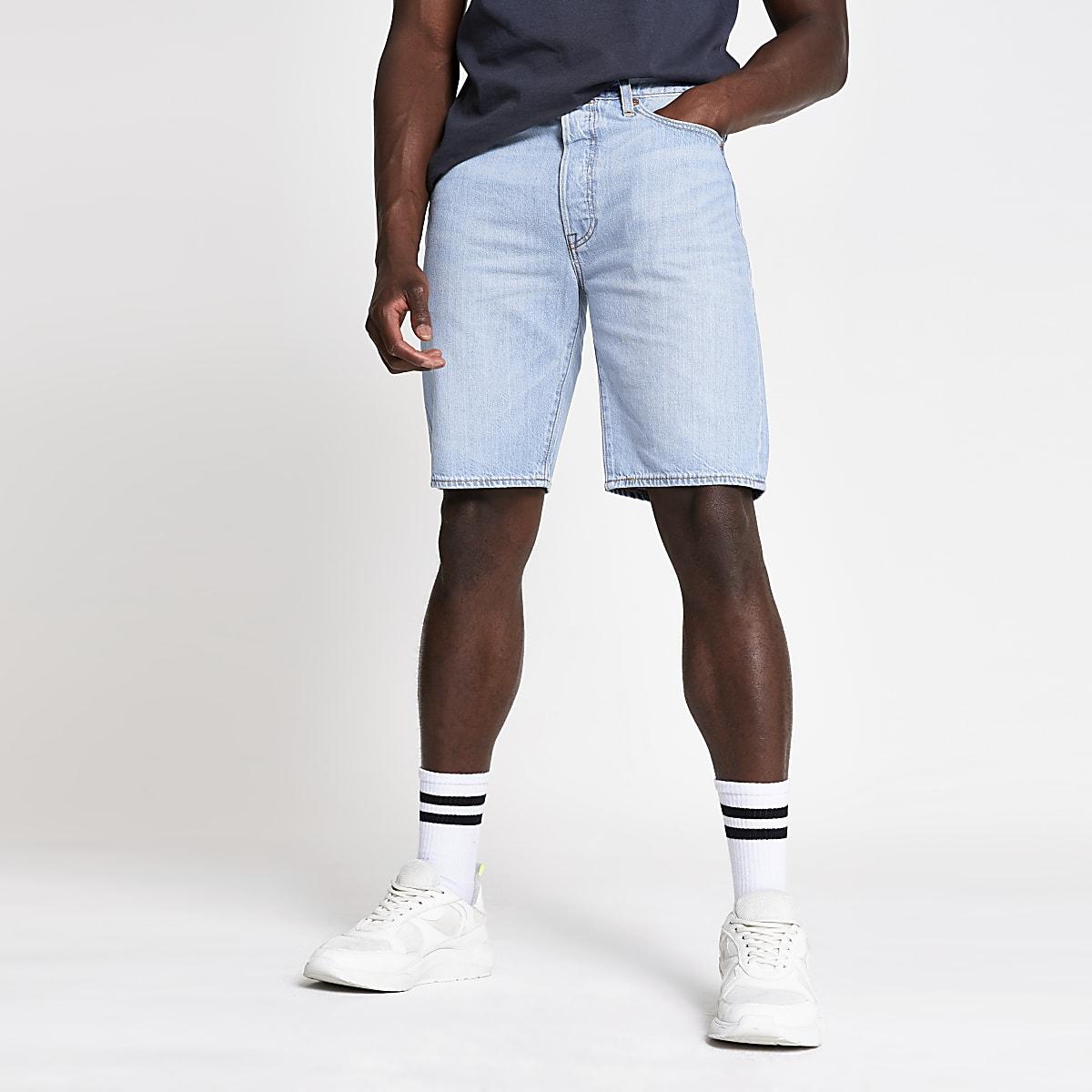 Levi's light blue 501 denim shorts