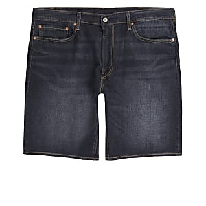 Levi's dark blue 502 tapered shorts