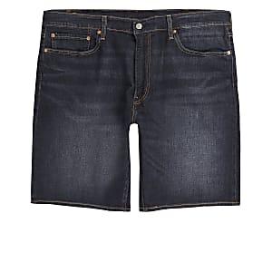 Levi's - Donkerblauwe smaltoelopende short
