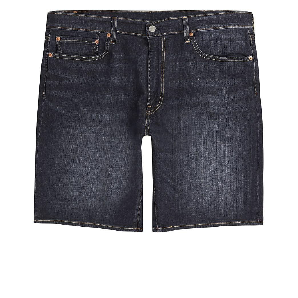 Levi's 502 - Donkerblauwe smaltoelopende short