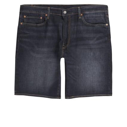 Levi's dark blue 502 tapered shorts