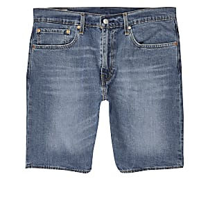 Levi's 502 - Lichtblauwe smaltoelopende denim short