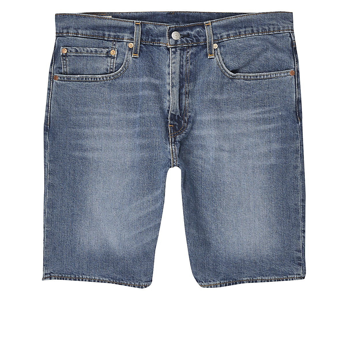 Levi's light blue 502 tapered denim shorts