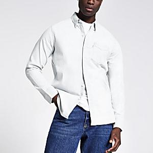 Levi's - Lichtblauw denim overhemd met normale pasvorm