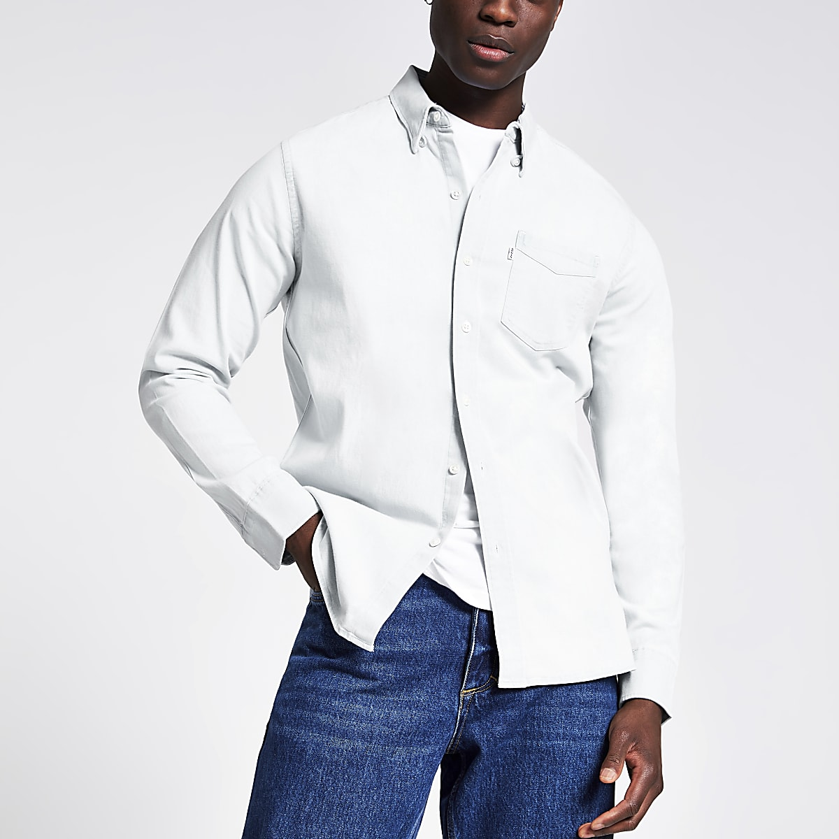 Levi's light blue long sleeve denim shirt