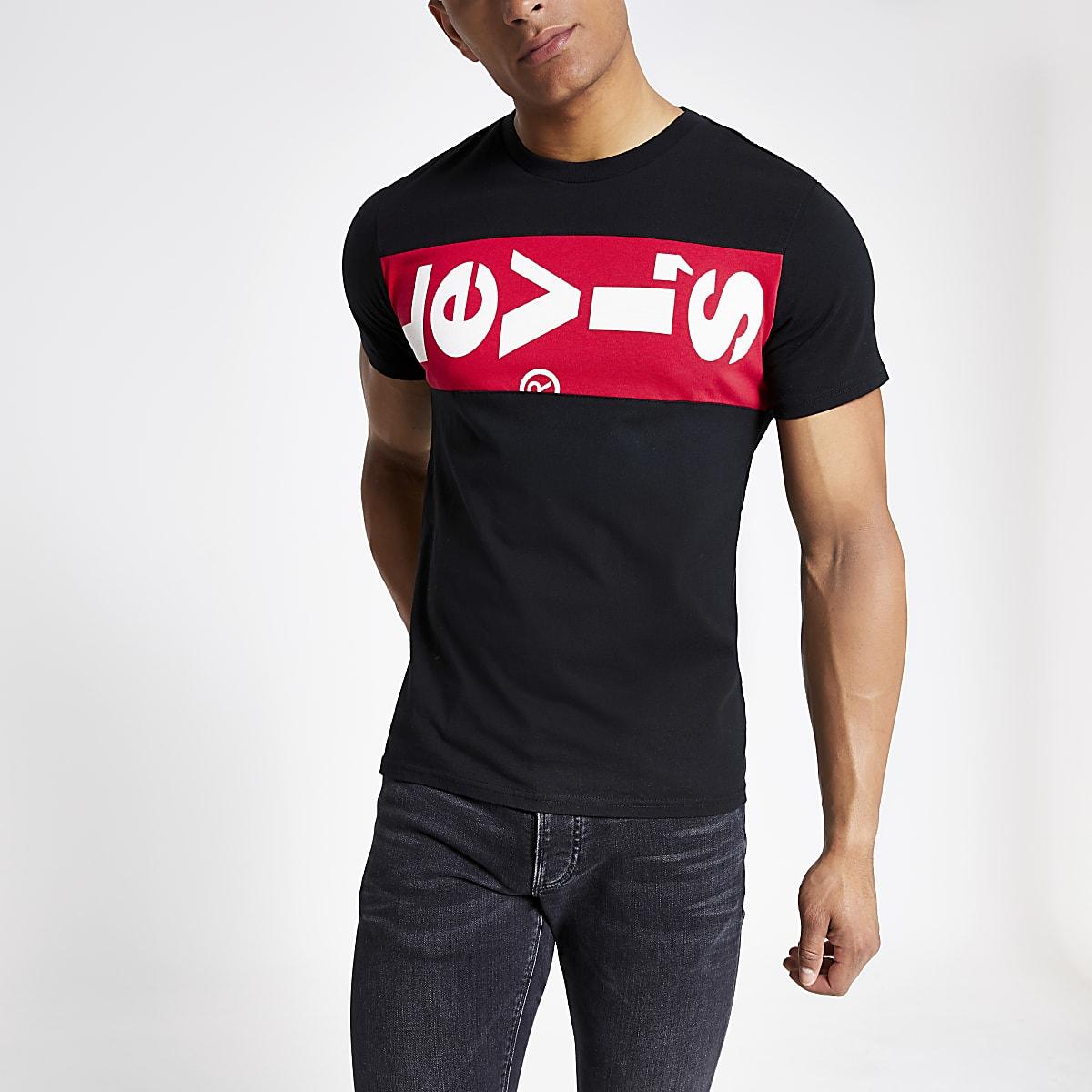 Levi's black logo print T-shirt