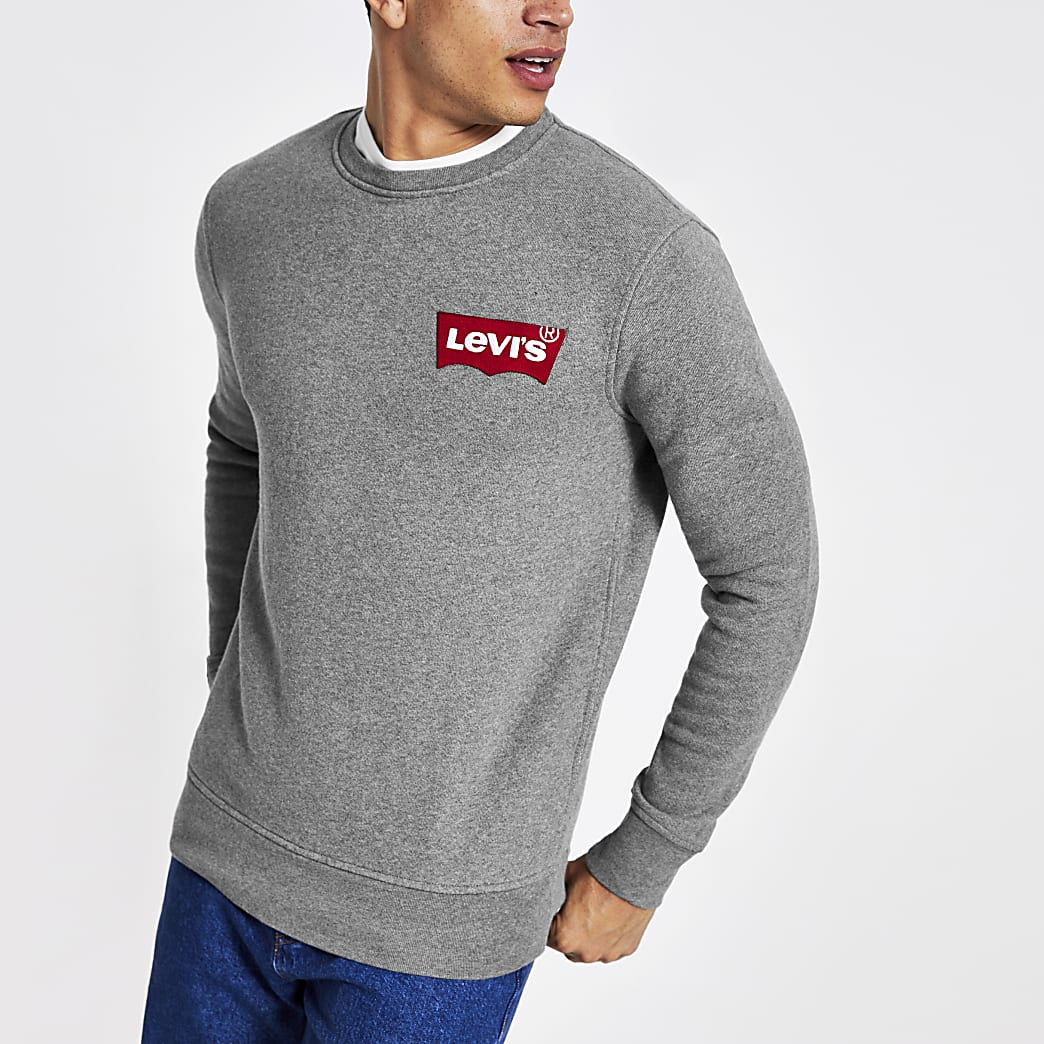 Levi's – Sweat gris à logo