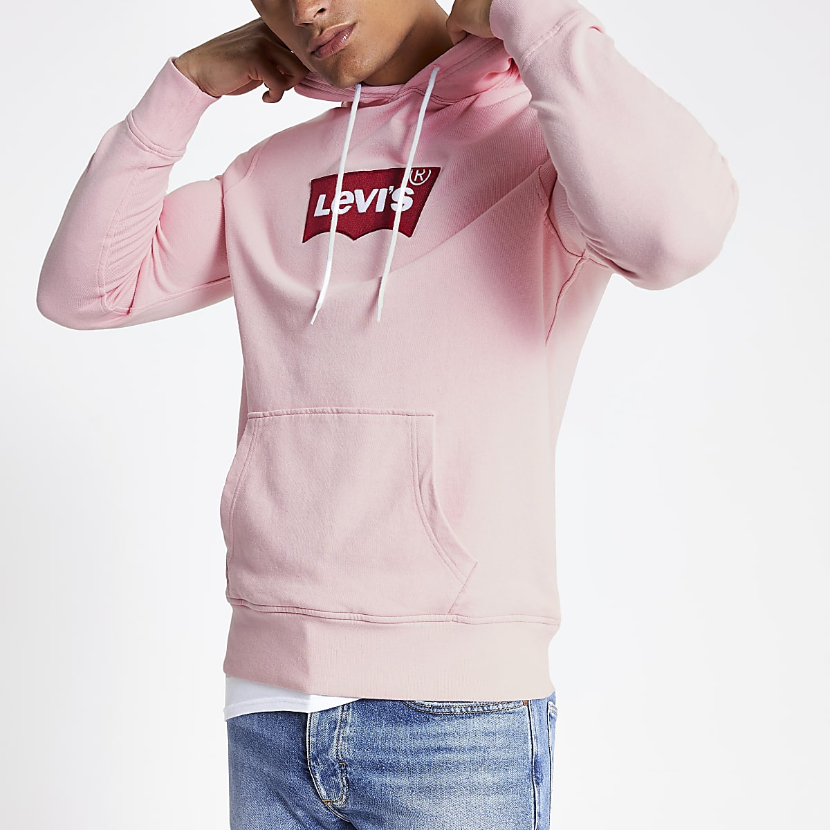 Levi's - Roze hoodie met logo
