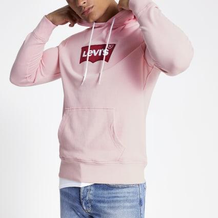 Levi's pink logo hoodie