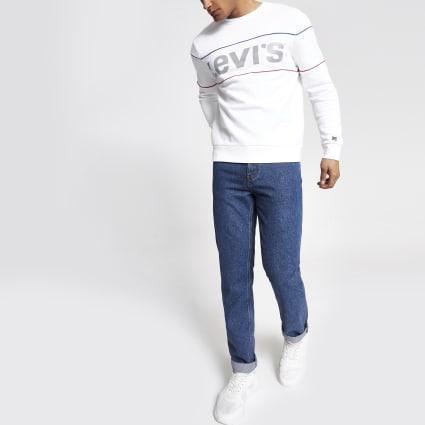 Levi's white reflective sweatshirt